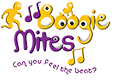 Small transparent Boogie Mites Logo