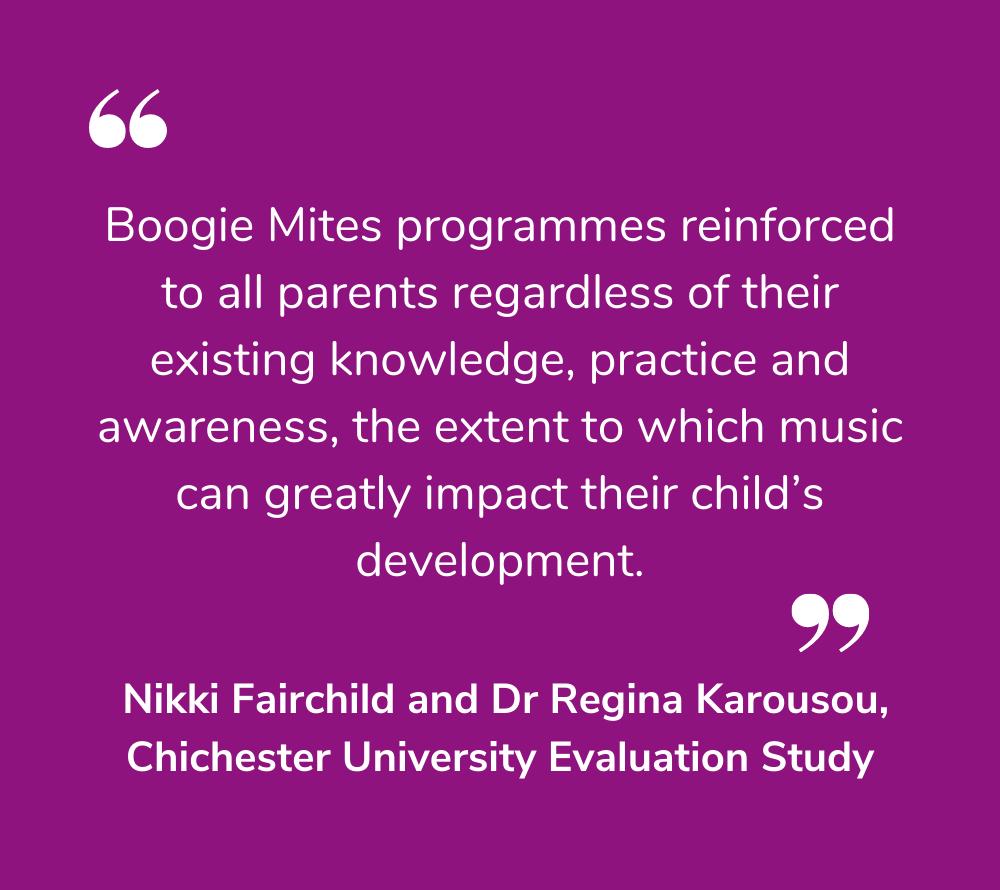 Boogie Mites Impact Parents
